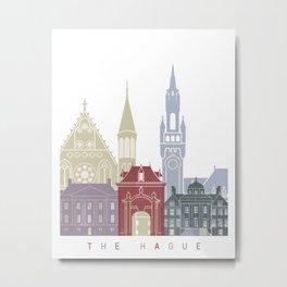 The Hague skyline poster Metal Print