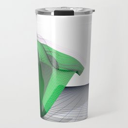 Waving Math Surface Green Travel Mug