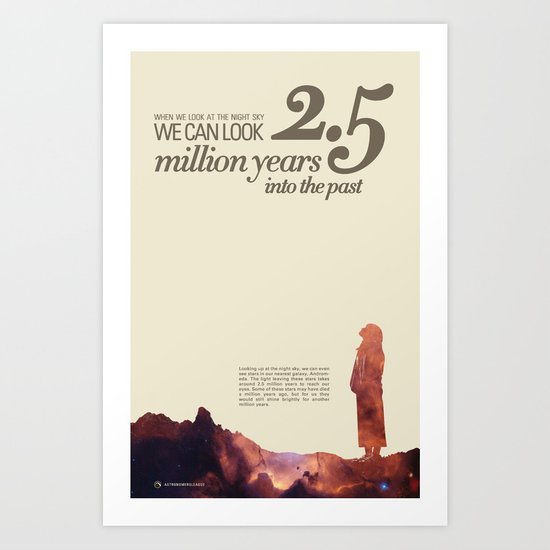 LOOK INTO THE PAST - Andromeda | Space | Time | Stars | Science | Planets | Million | Years | Travel Art Print