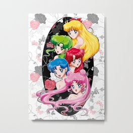 Sailor Senshi - Uncovered (Original Color Edition) Metal Print