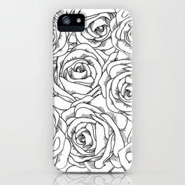 White & Black Roses iPhone Case