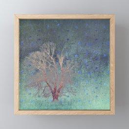 Blue Stars Falling Framed Mini Art Print