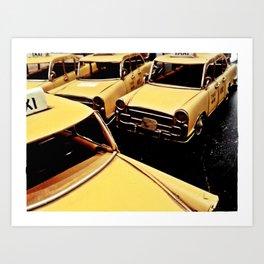 New York parking Art Print