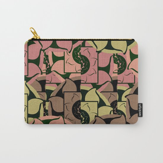 Floral pieces Carry-All Pouch