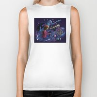 astronomy Biker Tanks featuring Muse of Astronomy by Jessica Chrysler
