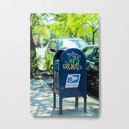 Astoria Mailbox Graffiti Metal Print