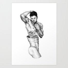 Split 2 NOODDOOD Art Print