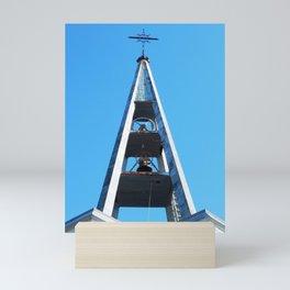 Bell tower church Belfry Mini Art Print