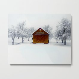 Cedar Snow Metal Print