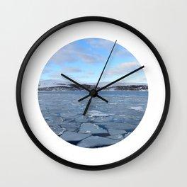 Telescope 9 ice floe Wall Clock