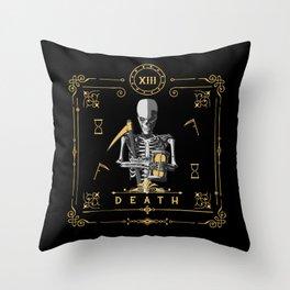 Death XIII Tarot Card Throw Pillow