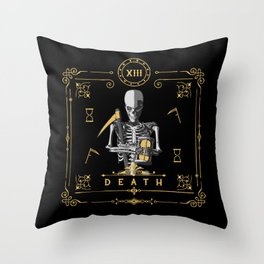 Death XIII Tarot Card Throw Pillow