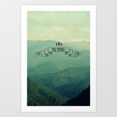Make Memories Art Print