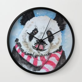 Holiday Panda Wall Clock