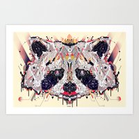 racoon Art Prints featuring racoon by yoaz