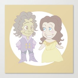 Rumbelle Chibis Canvas Print