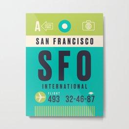 Luggage Tag A - SFO San Francisco USA Metal Print