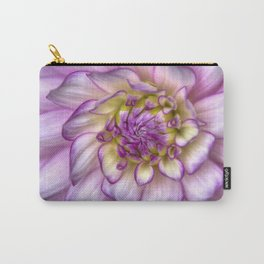 Pink Zinnia Close Up Carry-All Pouch