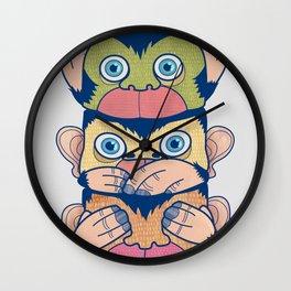 Hear no evil, Speak no evil, See no evil Wall Clock