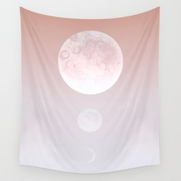 Moon Triplet Rose Wall Tapestry