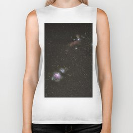Orion horsehead running man and flame nebula Biker Tank