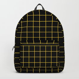 Grid Pattern - yellow and black - more colors Backpack