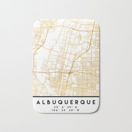 ALBUQUERQUE NEW MEXICO CITY STREET MAP ART Bath Mat