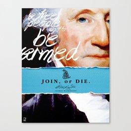 George Washington, Revolution, Join Or die Canvas Print