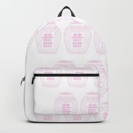 Pink and White Classic Ginger Jars Backpack