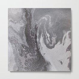 Acrylic marbling painting I Metal Print