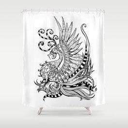 Firebird Shower Curtain