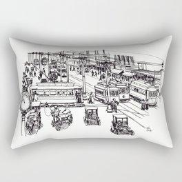 Street Scene Rectangular Pillow