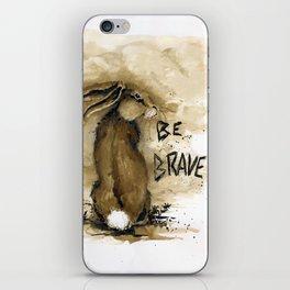 Be Brave Rabbit iPhone Skin