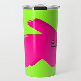 Atomic Pink Bunny Travel Mug