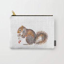 Berries Squirrel Carry-All Pouch