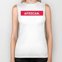 african Biker Tanks featuring AFRICAN by Iman Bss - BssStore