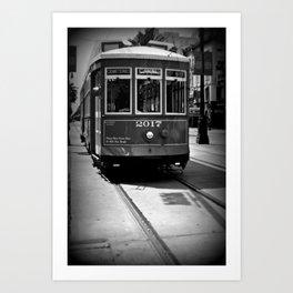 Canal Street Trolley Art Print