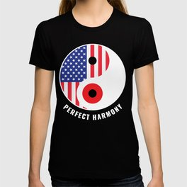 USA Japan Ying Yang Heritage for Proud Japanese American, Biracial American Roots, Culture, T-shirt