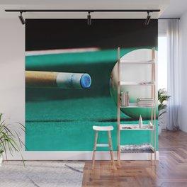 Pool Table-Green Wall Mural