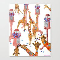 gumball Canvas Prints featuring Gumball Acacias by sarahklinger