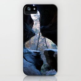 Through a crack in the world iPhone Case