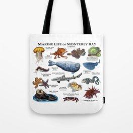 Marine Life of Monterey Bay Tote Bag