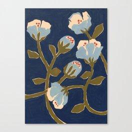 Blue Perennial Canvas Print