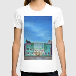 Evening at the Colonial Movie Theater Painting T-shirt