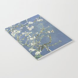 Almond Blossom - Vincent Van Gogh (blue pastel) Notebook