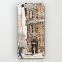 takmaj iPhone & iPod Skins featuring Winter in NYC by takmaj