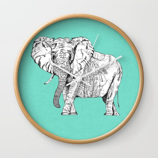 two ways to see one elephant Wall Clock