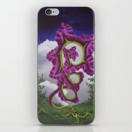 Purple Poppy Flower iPhone Skin