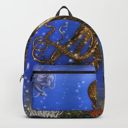 Octopus' Lair - colorful Backpack
