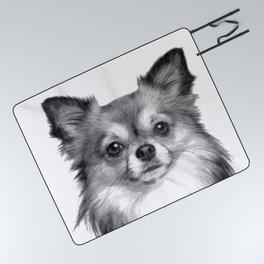 Black and White Chihuahua Picnic Blanket
